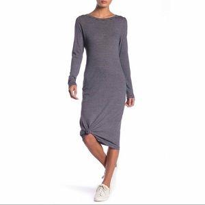 Alternative Long Sleeve Striped Midi Tee Dress NWT